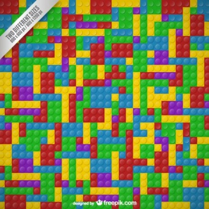 Lego Blocks Background Free Vector