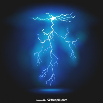 Lightning Background Free Vector