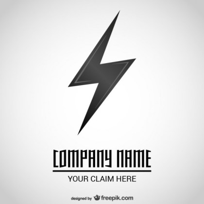 Lightning Icon Logo Free Vector