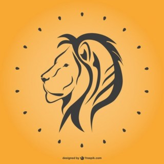 Lion Line Art Free Vector