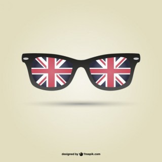 London Flag Glasses Free Vector