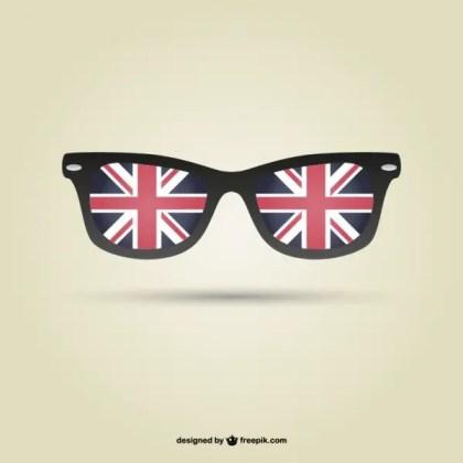 London Flag Glasses Free Vector