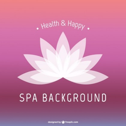 Lotus Flower Spa Background Free Vector