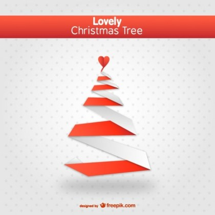Lovely Christmas Tree Free Vector
