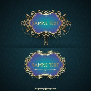 Luxurious Frame Free Vector
