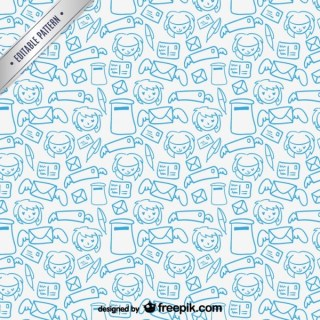 Mail Friends Pattern Free Vector