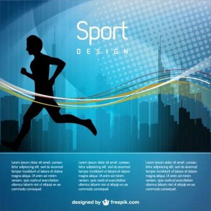 Man Jogging Illustration Free Vector