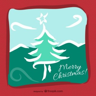 Merry Christmas Artistic Background Free Vector