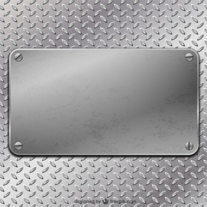 Metal Plate Background Free Vector
