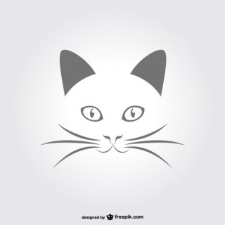 Minimal Cat Portrait Free Vector