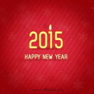 Minimalist New Year Card Free Vector