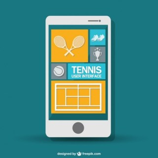 Mobile Tennis Game Free Vector