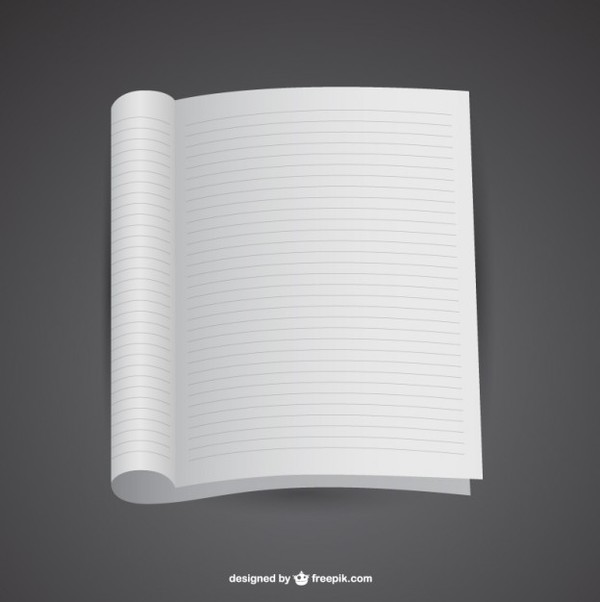 Mockup of Open Notebook Template Free Vector