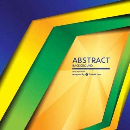 Modern Geometric Brazil Concept Background Free Vector