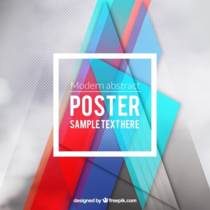 Modern Poster in Abstract Style Free Vector