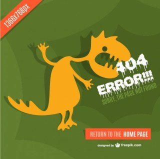 Monster Background of 404 Error Free Vector