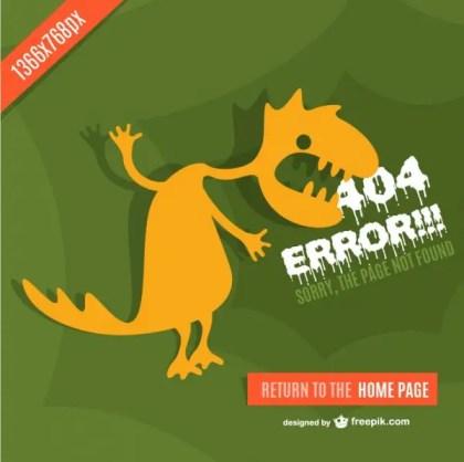 Monster Background of 404 Error Free Vector