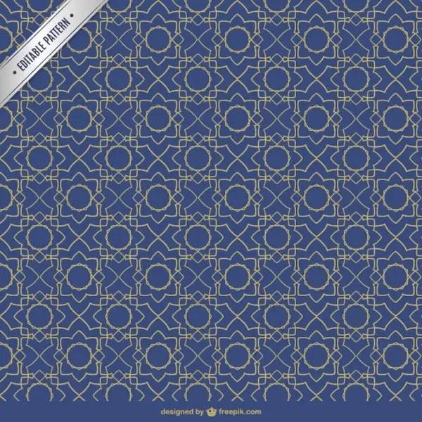 Moresque Editable Pattern Free Vector