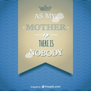 Mother's Day Banner Card Template Free Vector