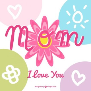 Mother's Day Calligraphy Design Free Vector