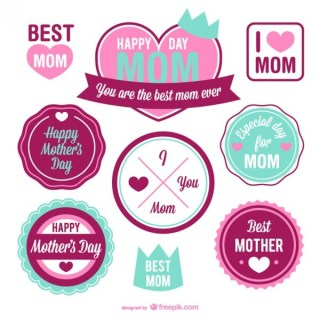 Mother's Day Free Retro Grapic Elements Free Vector