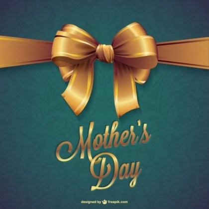Mother's Day Free Template Free Vector