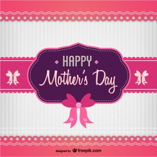 Mother's Day Sweet Card Free Vector