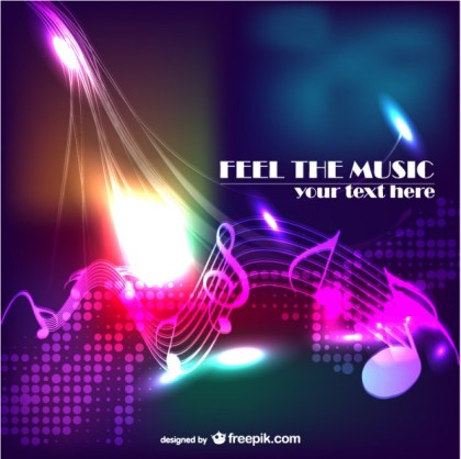 Music Abstract Modern Background Free Vector