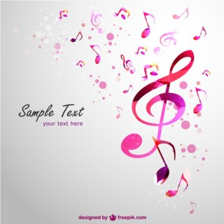 Music Clef Background Free Vector