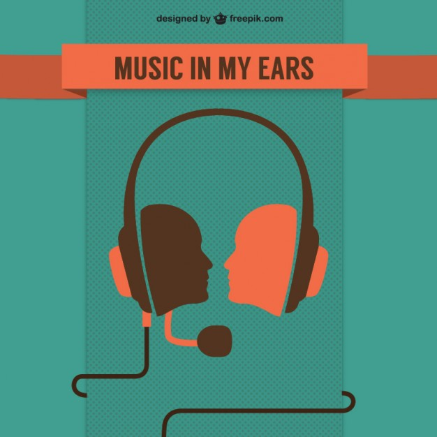 Music Concept Free Template Free Vector