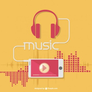 Music Earphones Free Vector