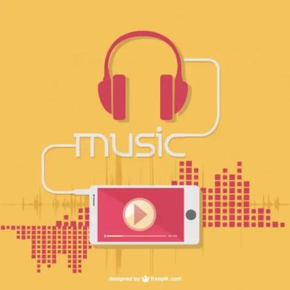 Music Earphones Free Vector