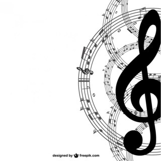 Music Key Simple Background Free Vector
