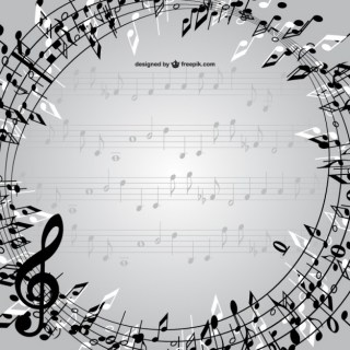 Music Notes Frame Free Vector