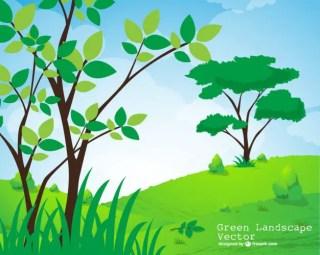 Natural Landscape Free Vector