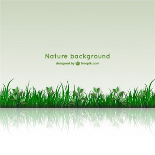 Nature Background with Glass Free Vector