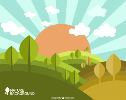 Nature Spring Background Free Vector