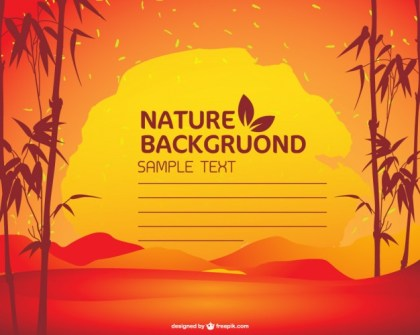Nature Sunset Background Free Vector