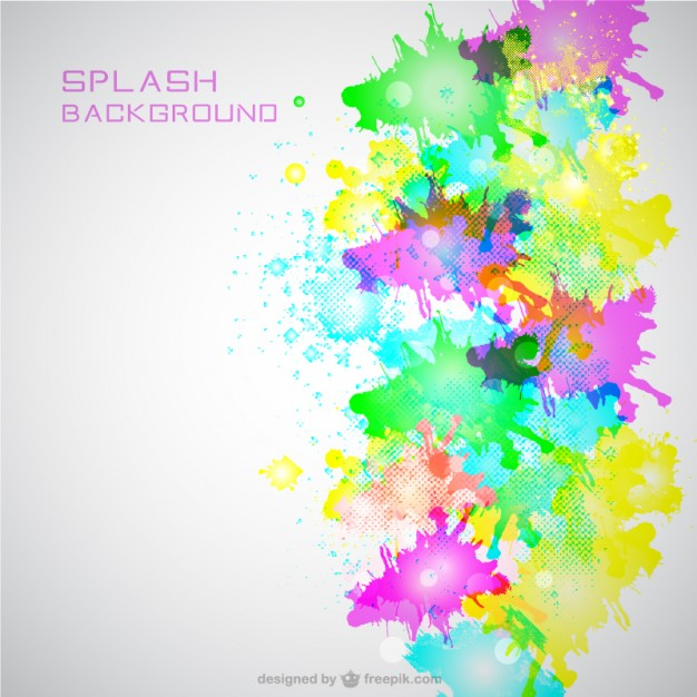 Neon Color Splash Background Free Vector