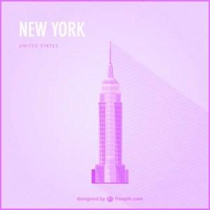 New York Free Landmark Illustration Free Vector