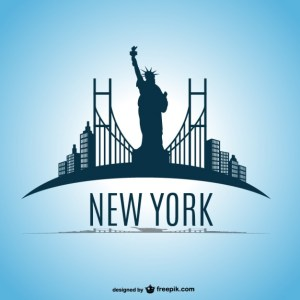 New York Skyline Design Free Vector