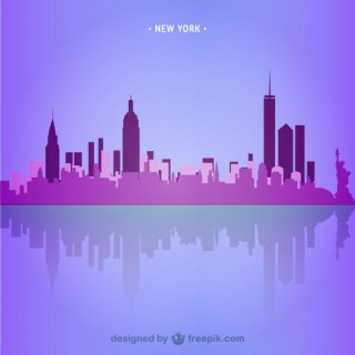 New York Skyline Illustration Free Vector