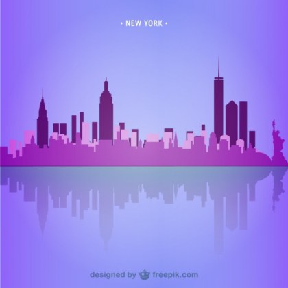New York Skyline Illustration Free Vector