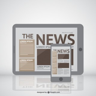 News on New Media Devices Free Vector