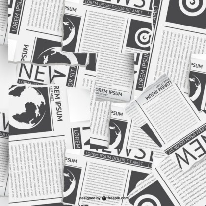 Newspaper Collage Free Vector