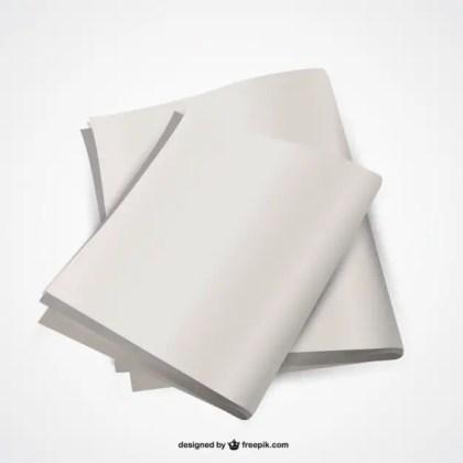 Newspaper Empty Customizable Design Free Vector