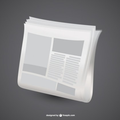 Newspaper Graphic Design Free Vector
