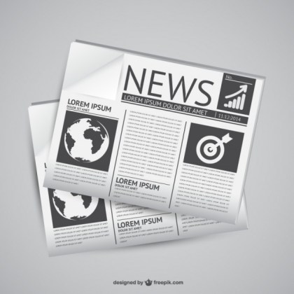 Newspaper Graphics Free Vector