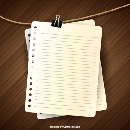 Notebook Page Design Free Vector