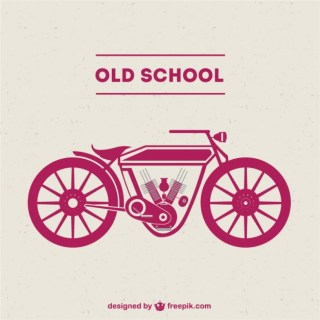 Old-School Motorcycle Free Free Vector